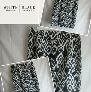 White House Black Market Skirt Black & White Sz 8